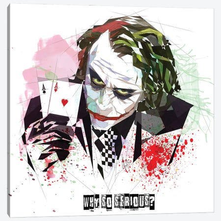 Joker Canvas Print #KSK24} by Katia Skye Canvas Art Print