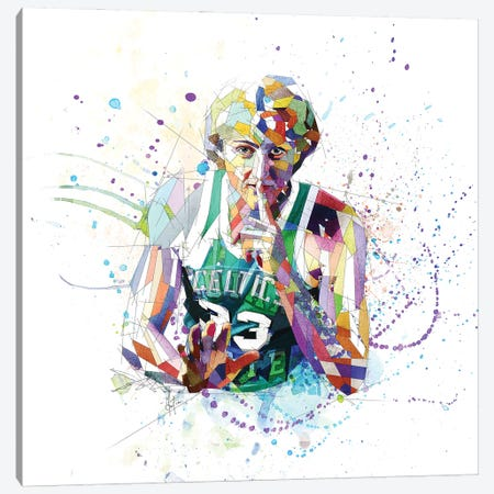 Larry Bird Canvas Print #KSK26} by Katia Skye Canvas Art Print