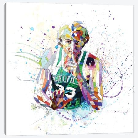 Larry Bird Canvas Print #KSK26} by Katia Skye Canvas Art Print