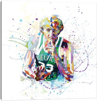 Larry Bird Canvas Art Print