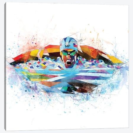 Michael Phelps Canvas Print #KSK27} by Katia Skye Canvas Print