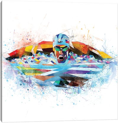 Michael Phelps Canvas Art Print