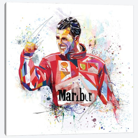 Michael Schumacher Canvas Print #KSK28} by Katia Skye Canvas Wall Art