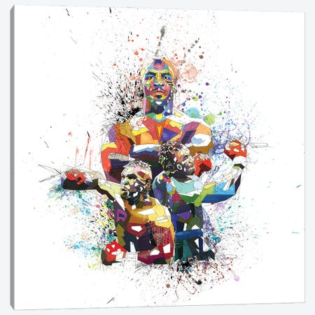 Mike Tyson Canvas Print #KSK29} by Katia Skye Canvas Artwork