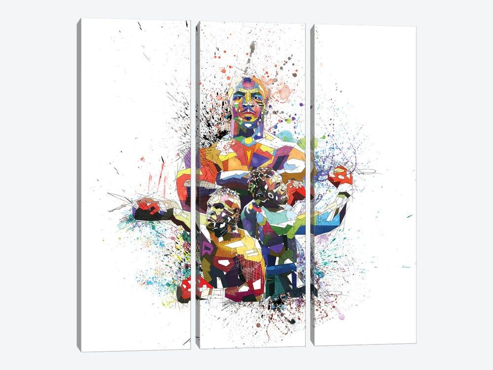Mike Tyson by Katia Skye 3-piece Canvas Wall Art