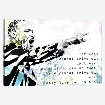 Martin Luther King Canvas Print #KSK30} by Katia Skye Canvas Print