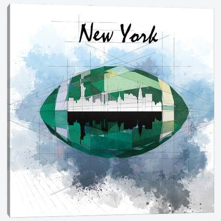 Football New York Jets Canvas Print #KSK31} by Katia Skye Canvas Print