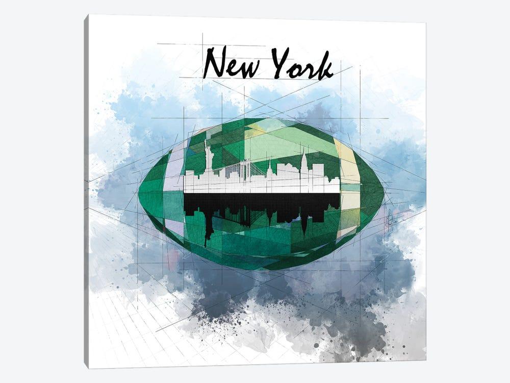 Football New York Jets by Katia Skye 1-piece Canvas Art Print