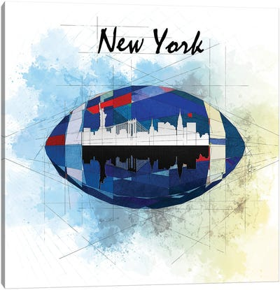 Football New York Giants Canvas Art Print