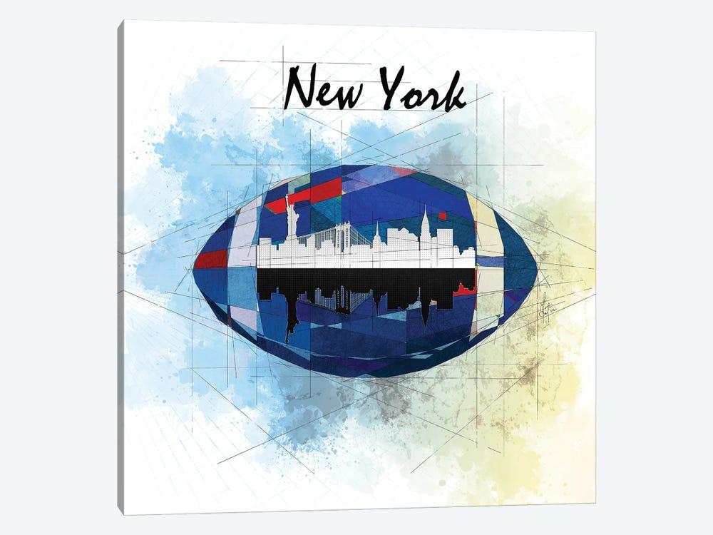 Football New York Giants by Katia Skye 1-piece Canvas Art