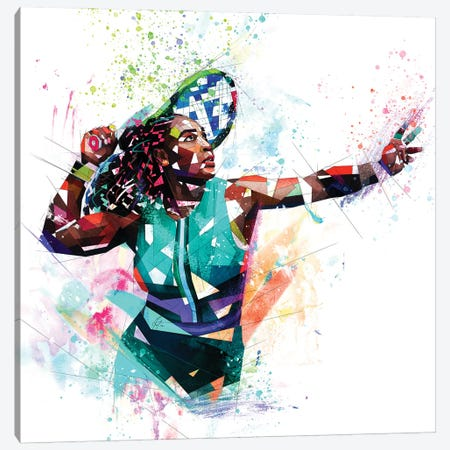 Serena Williams Canvas Print #KSK34} by Katia Skye Canvas Artwork