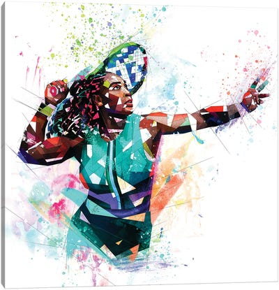 Serena Williams Canvas Art Print