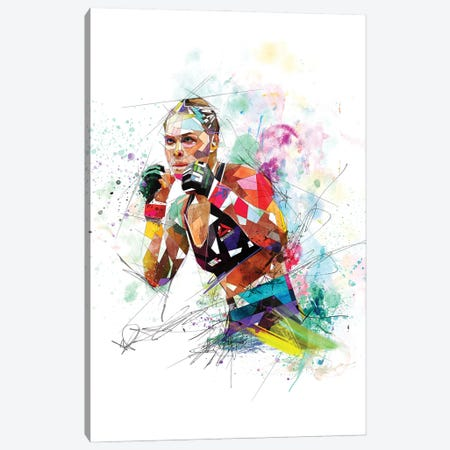 Ronda Rousey Canvas Print #KSK35} by Katia Skye Canvas Artwork