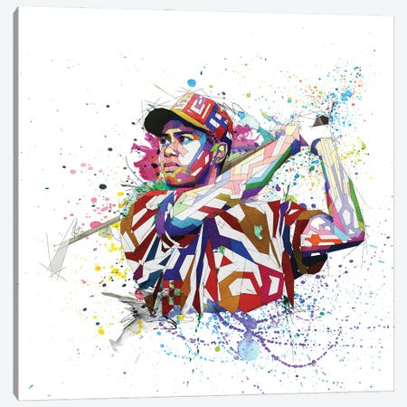 Tiger Woods Canvas Print #KSK37} by Katia Skye Canvas Wall Art