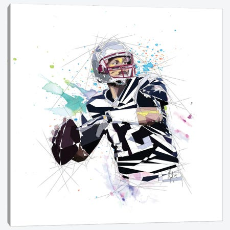 Tom Brady Canvas Print #KSK38} by Katia Skye Canvas Print