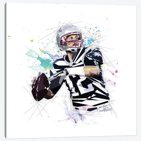Tom Brady Canvas Print #KSK38} by Katia Skye Canvas Print