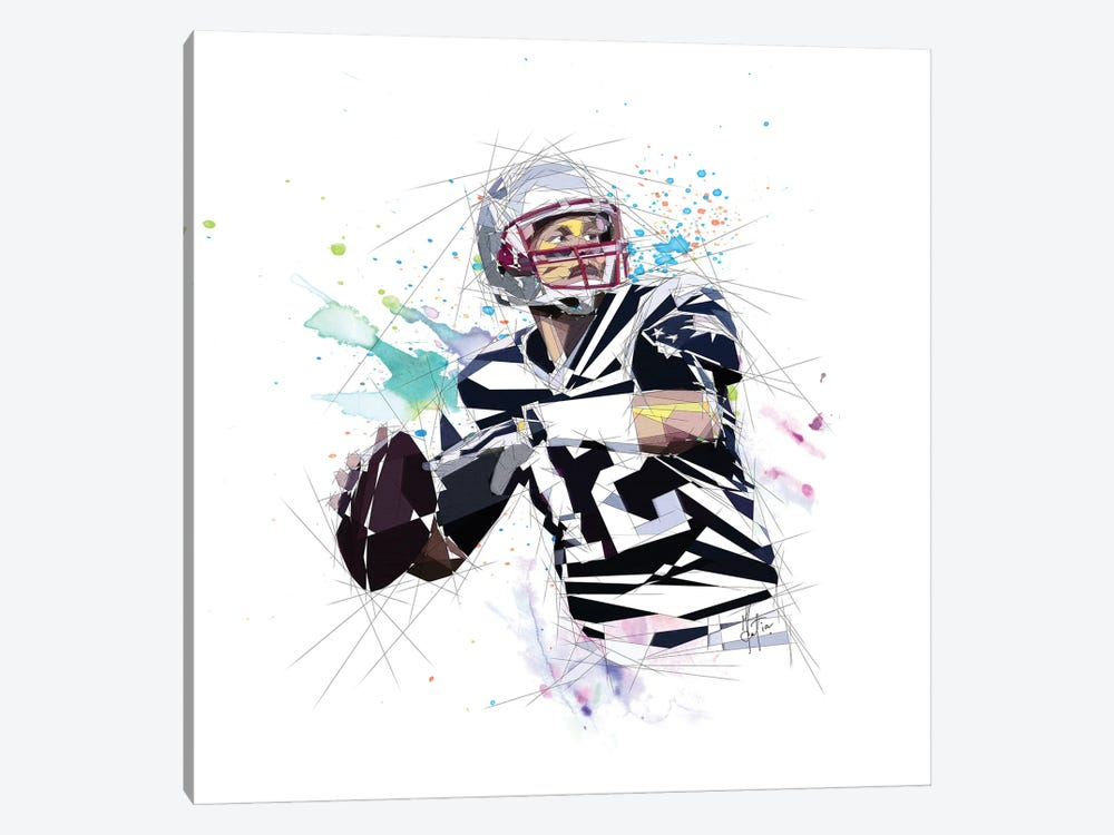 Tom Brady by Katia Skye 1-piece Canvas Artwork
