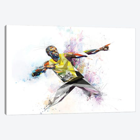 Usain Bolt Canvas Print #KSK39} by Katia Skye Art Print