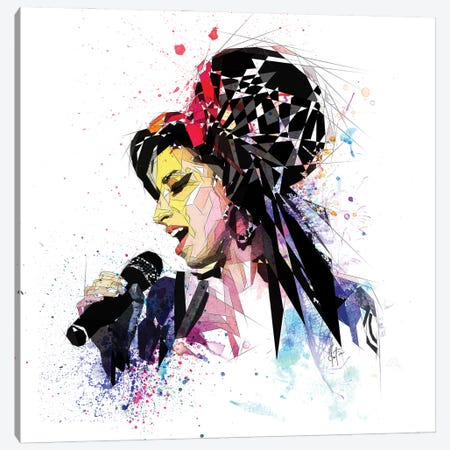 Amy Winehouse Canvas Print #KSK4} by Katia Skye Canvas Print