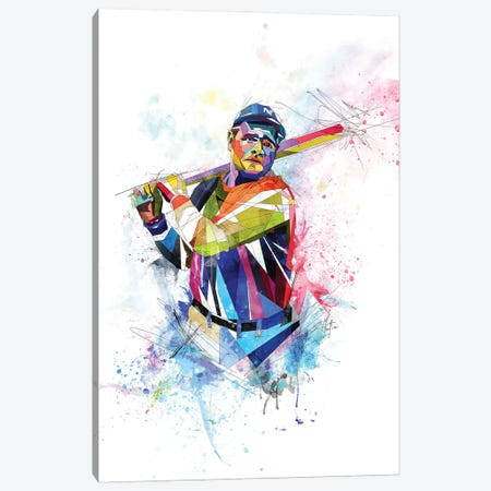 Babe Ruth Canvas Print #KSK7} by Katia Skye Canvas Art Print