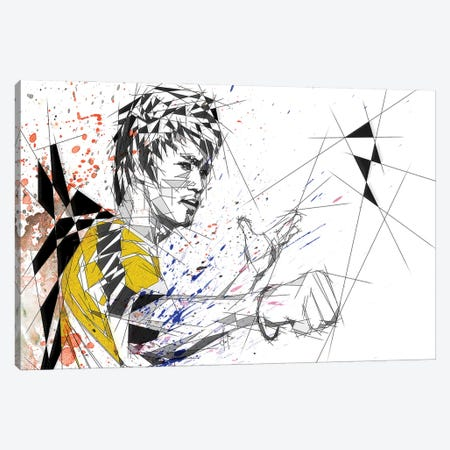 Bruce Lee Canvas Print #KSK9} by Katia Skye Canvas Artwork