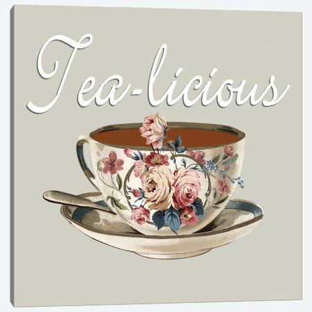Tea-Licious Canvas Print #KSM14} by Karen Smith Canvas Wall Art