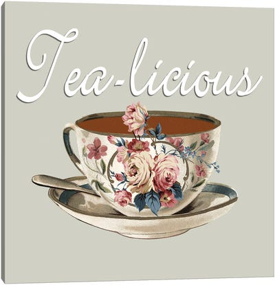 Tea-Licious Canvas Art Print