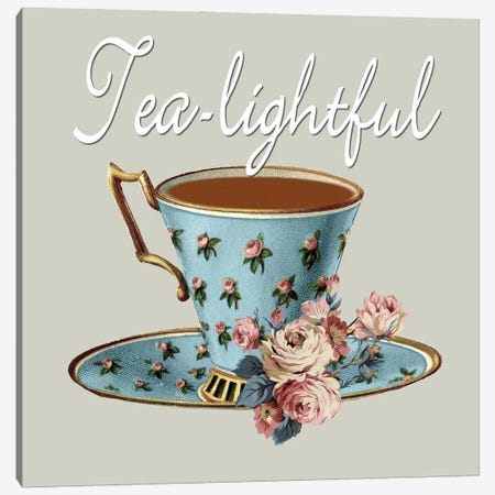 Tea-Lightful Canvas Print #KSM15} by Karen Smith Canvas Artwork