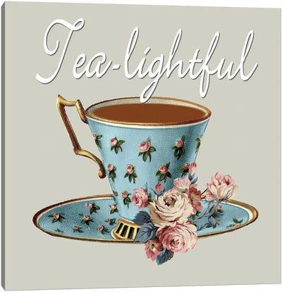 Tea-Lightful Canvas Art Print