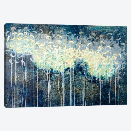 Blue Clouds Canvas Print #KSO34} by Kari Souders Canvas Artwork