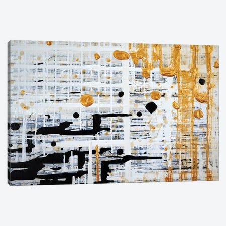 Gilded Grid Canvas Print #KSO40} by Kari Souders Canvas Art
