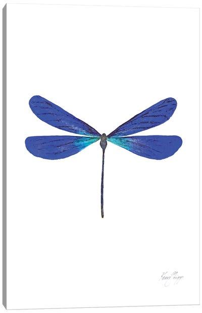 Dragonfly In Cobalt Canvas Art Print