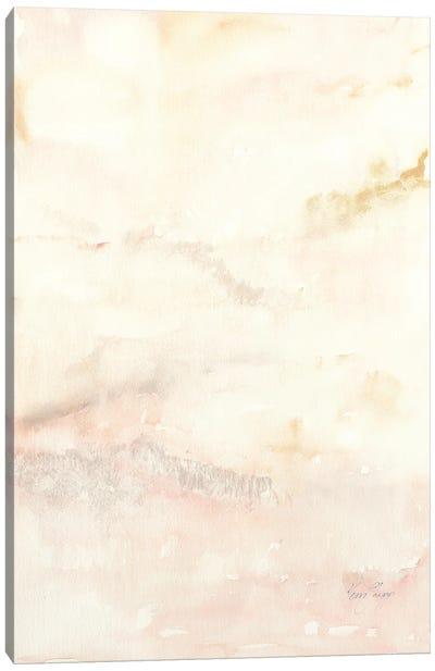 Dusk I In Blush Canvas Art Print