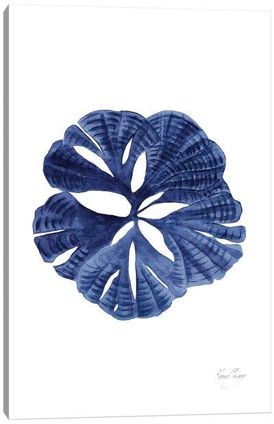 Fan Coral I In Denim Canvas Art Print