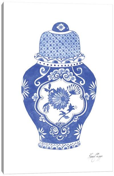Ginger Jar In Cobalt Canvas Art Print