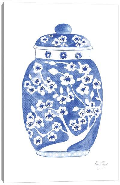 Ginger Jar In Indigo Canvas Art Print