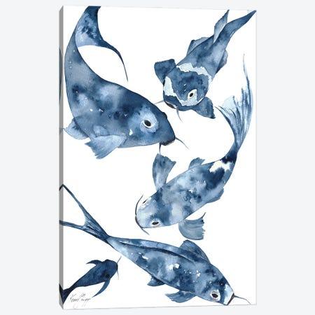 Koi II In Denim Canvas Print #KSP45} by Kerri Shipp Canvas Artwork