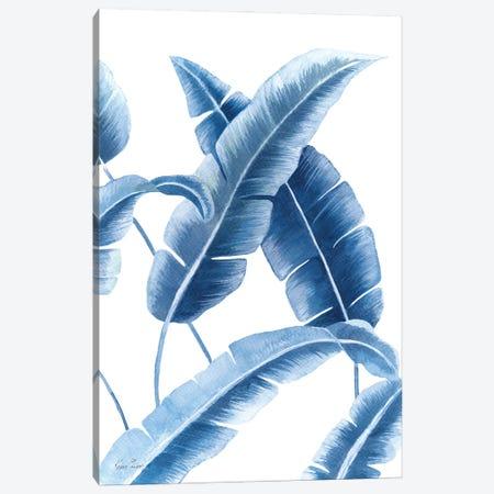 Banana Leaf III In Blue Canvas Print #KSP5} by Kerri Shipp Art Print