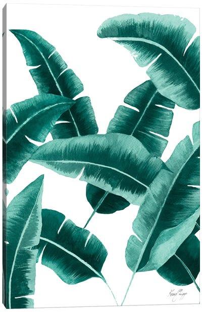 Banana Leaf II In Green Canvas Art Print