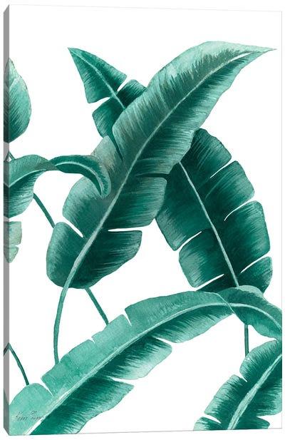 Banana Leaf III In Green Canvas Art Print