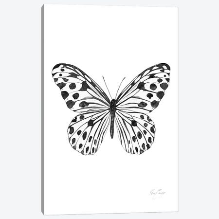 Black And White Spotted Butterfly Canvas Print #KSP9} by Kerri Shipp Canvas Artwork