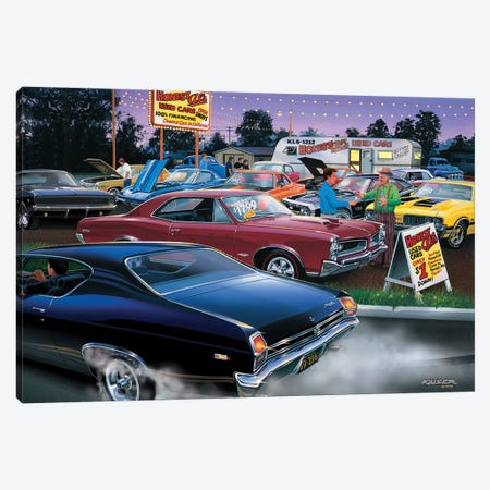 Honest Al's Used Cars Canvas Print #KSR11} by Bruce Kaiser Canvas Wall Art