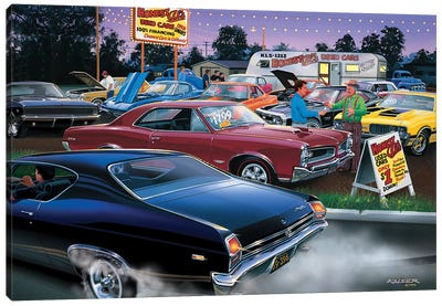 Honest Al's Used Cars Canvas Art Print