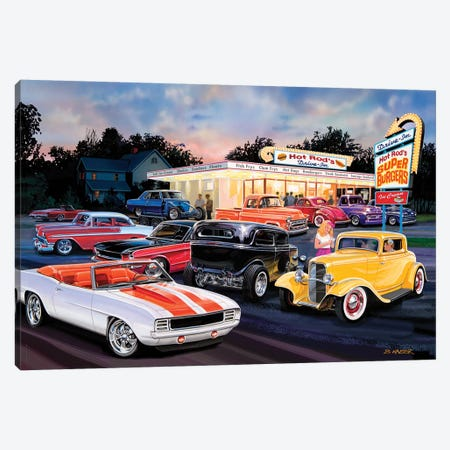 Hot Rod Drive-In I Canvas Print #KSR12} by Bruce Kaiser Canvas Art