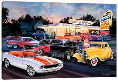 Hot Rod Drive-In I Canvas Art Print