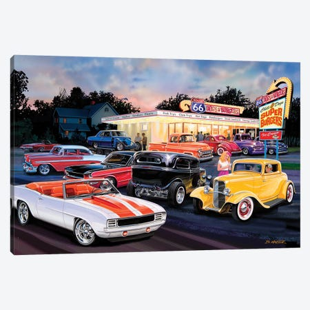 Hot Rod Drive-In II Canvas Print #KSR13} by Bruce Kaiser Canvas Wall Art