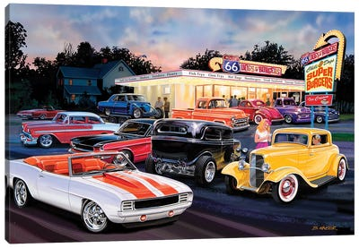 Hot Rod Drive-In II Canvas Art Print
