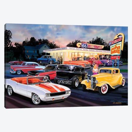 Hot Rod Drive-In II Canvas Print #KSR13} by Bruce Kaiser Canvas Wall Art