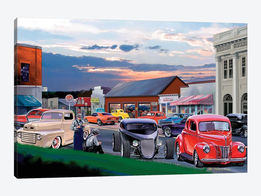 Main Street by Bruce Kaiser 1-piece Canvas Wall Art