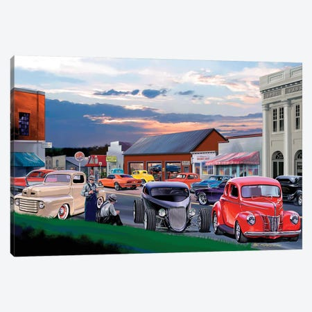 Main Street Canvas Print #KSR17} by Bruce Kaiser Canvas Art Print